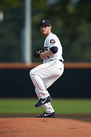 Buies Creek Astros starting pitcher J.B. Bukauskas (4) in action against the Winston-Salem Dash at Jim Perry Stadium on August 15, 2018 in Buies Creek, North Carolina.  The Astros defeated the Dash 5-0.  (Brian Westerholt/Four Seam Images)