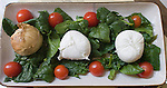 Tomato and Mozzarella Salad, Pan Obik Restaurant, Rome, Italy