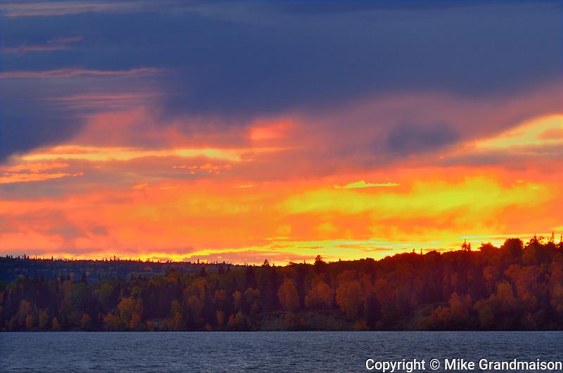 Sunset on Waskasiu Lake<br /> Prince Albert National Park<br /> Saskatchewan<br /> Canada