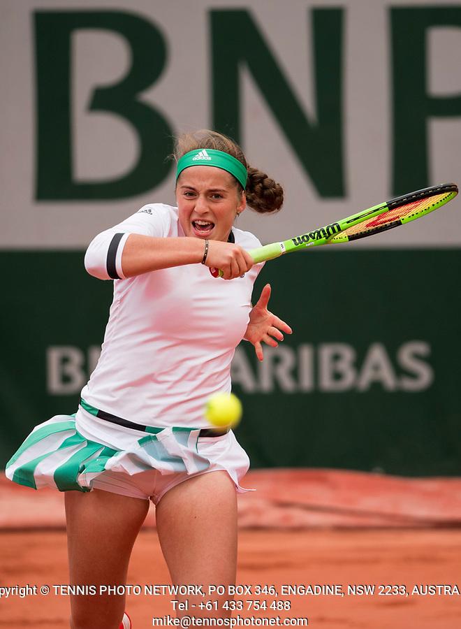 JELENA OSTAPENKO (LAT)<br /> <br /> TENNIS - FRENCH OPEN - ROLAND GARROS - ATP - WTA - ITF - GRAND SLAM - CHAMPIONSHIPS - PARIS - FRANCE - 2017  <br /> <br /> <br /> <br /> &copy; TENNIS PHOTO NETWORK