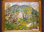 'Old Cotter's Farm' undated oil painting on canvas by Nikolai Astrup 1880-1928, Kode 4 art gallery Bergen, Norway