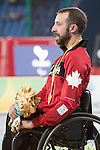 RIO DE JANEIRO - 9/9/2016:  receives his medal ceremony for the in the Olympic Stadium during the Rio 2016 Paralympic Games. (Photo by Matthew Murnaghan/Canadian Paralympic Committee