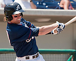 Reno Aces Jake Elmore swings against the Sacramento River Cats during their game played on Sunday afternoon, July 29, 2012 in Reno, Nevada.