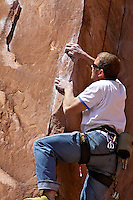 Rock Climber, Canyanlands National Park, Moab, Utah