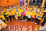 Some of the 700 who came out to support the 'Darkness into Light' walk in Cahersiveen on Saturday morning.