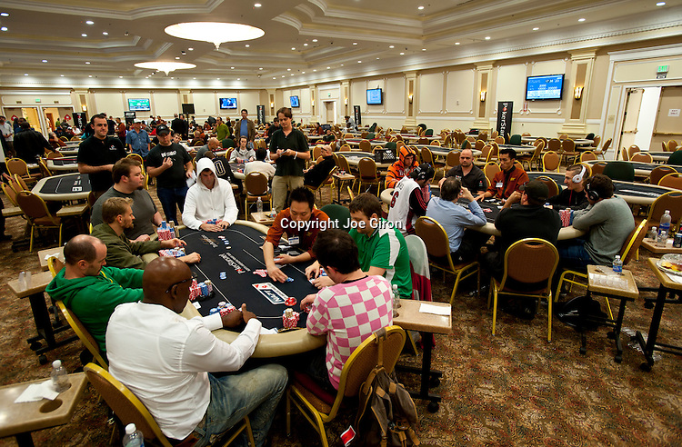 A view of the final three tables in play.