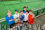 L-r Dan Fisher, Cian Moran, Cathal Murphy, Paddy O'Sullivan, Cormac Gallagher and Michael Tansley  at the Hillbilly's Tennis Cup Family Fun Day at Tralee Tennis Club on Saturday