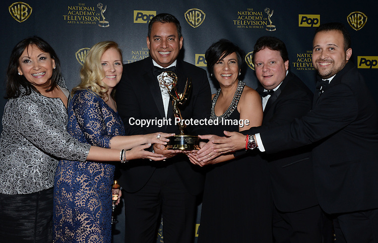 Winners  Un Nuevo Dia attends the 42nd Annual Daytime Emmy Awards Press Room on April 26, 2015 at Warner Bros Studio in Burbank, California, USA