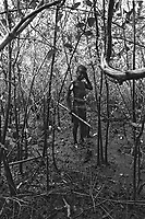 Child labor in the mangrove thicket, crab hunter. City: Maragogipe; State: Bahia, Brazil.