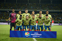 PEREIRA - COLOMBIA, 30-01-2020: Jugadores de Colombia U-23 posan para una foto previo al partido por la fecha 5, grupo A, del CONMEBOL Preolímpico Colombia 2020 jugado en el estadio Hernán Ramírez Villegas de Pereira, Colombia. / Players of Colombia U-23 pose to a photo prior the match for the date 5, group A, for the CONMEBOL Pre-Olympic Tournament Colombia 2020 played at Hernan Ramirez Villegas stadium in Pereira, Colombia. Photo: VizzorImage / Julian Medina / Cont