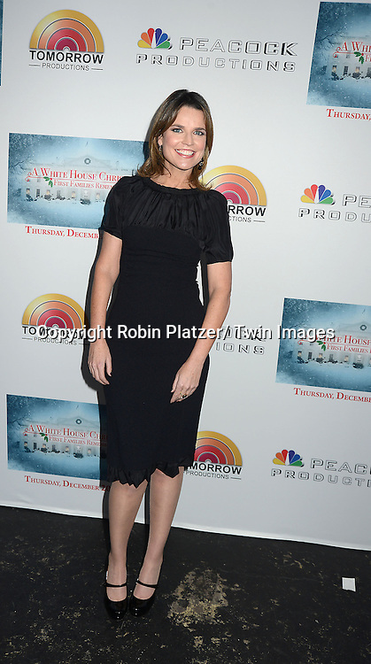 "Savannah Guthrie attend the party for NBC's "" A White House Christmas: First Families Remember"" on December 11, 2012 at Tenjune in New York City."