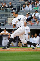 New York Yankees infielder Alex Rodriguez #13 during a game against the Tampa Bay Rays at Yankee Stadium on September 21, 2011 in Bronx, NY.  Yankees defeated Rays 4-2.  Tomasso DeRosa/Four Seam Images