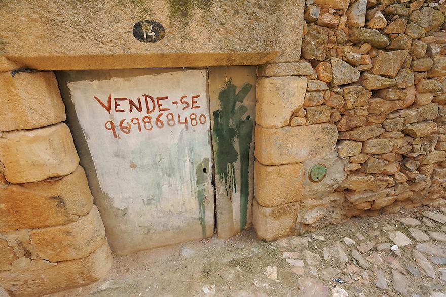abandoned house, Castelo Rodrigo, Portugal
