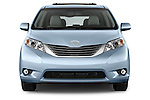 Car photography straight front view of a 2017 Toyota Sienna XLE 5 Door Minivan Front View