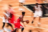 NEW YORK, EUA, 08.04.2017 - BROOKLYN NETS-CHICAGO BULLS -   Jimmy Butler  do Chicago Bull durante partida contra Brooklyn Nets  no Barcleys Center em New York na noite deste sábado, 08.(Foto: William Volcov/Brazil Photo Press)
