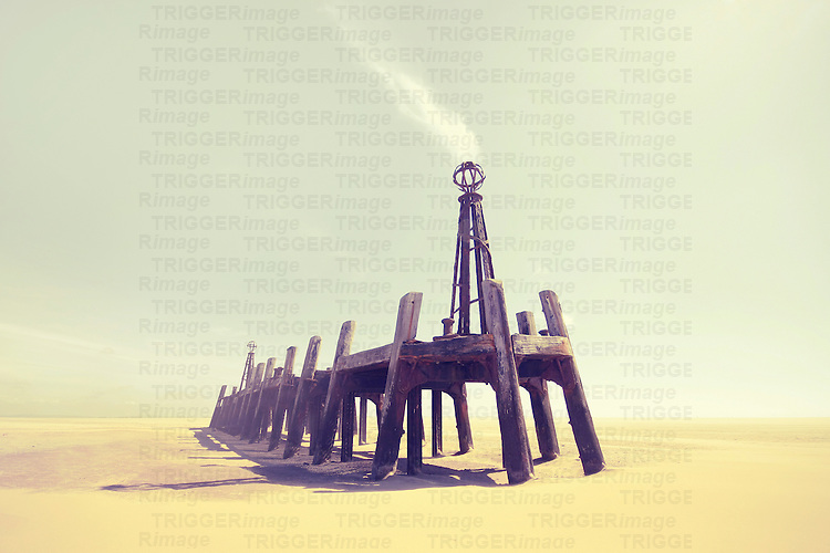 Lytham's old Jetty in the UK