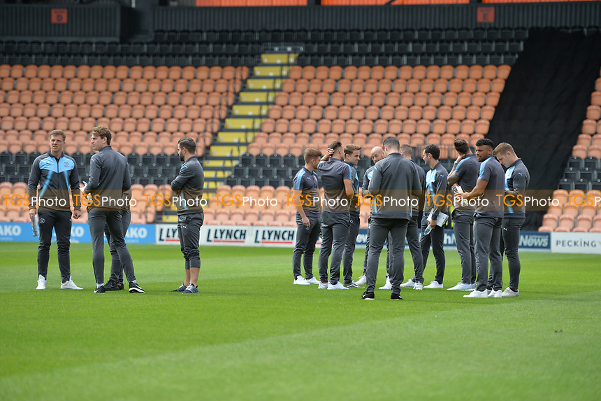 Luton Players arrive at the hive  during Barnet vs Luton Town, Sky Bet EFL League 2 Football at the Hive Stadium on 12th August 2017