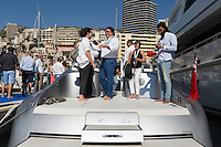 Mercedes new tender arrives back in port after a tour, Monaco Yacht Show, Monaco, 30 September 2016. The boat is on sale for €2.5 million.