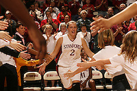 25 February 2006: Krista Rappahahn during Stanford's 78-47 win over the Washington State Cougars at Maples Pavilion in Stanford, CA.