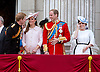 PRINCE HARRY,PRINCE WILLIAM, KATE AND PRINCESS EUGENIE<br /> watch the flypast by the RAF on the balcony of Buckingham Palace during Trooping of the Colour.<br /> The Duke of Edinburgh missed the event as he is hospitalised after undergoing surgery.<br /> The Trooping marks the official birthday of the Queen_15/6/2013<br /> Mandatory Credit Photo: &copy;NEWSPIX INTERNATIONAL<br /> <br /> **ALL FEES PAYABLE TO: &quot;NEWSPIX INTERNATIONAL&quot;**<br /> <br /> IMMEDIATE CONFIRMATION OF USAGE REQUIRED:<br /> Newspix International, 31 Chinnery Hill, Bishop's Stortford, ENGLAND CM23 3PS<br /> Tel:+441279 324672  ; Fax: +441279656877<br /> Mobile:  07775681153<br /> e-mail: info@newspixinternational.co.uk
