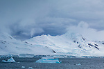 Half Moon Island, home to a large chinstrap penguin colonly, Antarctica