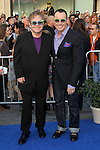 "SIR ELTON JOHN, DAVID FURNISH. World Premiere of Touchstone Pictures' ""Gnomeo & Juliet"" at the El Capitan Theatre. Los Angeles, CA, USA. January 23, 2011. ©CelphImage"