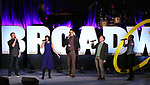 Anthony Rapp, Susan Egan, Ben Cameron, Ethan Slater and Hailey Kilgore on stage during Broadwaycon at New York Hilton Midtown on January 11, 2019 in New York City.