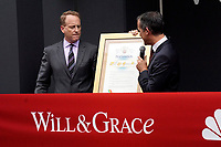"""LOS ANGELES - AUG 2:  Bob Greenblatt, Eric Garcetti at the """"Will & Grace"""" Start of Production Kick Off Event at the Universal Studios on August 2, 2017 in Universal City, CA"""