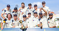 Picture by Alex Whitehead/SWpix.com - 12/09/2014 - Cricket - LV County Championship Div One - Nottinghamshire CCC v Yorkshire CCC, Day 4 - Trent Bridge, Nottingham, England - Yorkshire celebrate with the  County Championship Division One trophy.