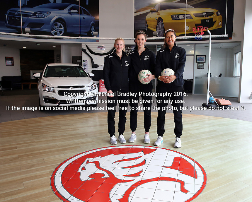 18.10.2016 Silver Ferns vist the Holden dealership in Invercargill. Mandatory Photo Credit ©Michael Bradley.