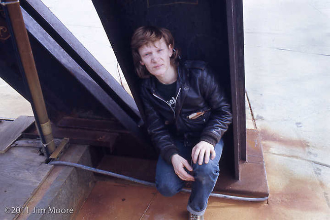 Philippe Petit on roof of North Tower during one of our first 'covert' visits.