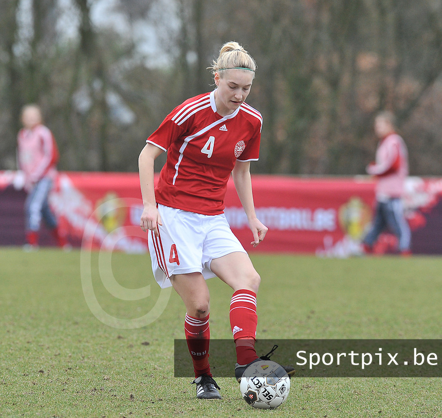 Denmark U17 - Belgium U17 : .Maja Kildemoes.foto DAVID CATRY / Vrouwenteam.be
