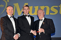 At the Bord G&aacute;is Energy Munster GAA Sports Star of the Year Awards in The Malton Hotel, Killarney on Saturday night were front from left, Dave Kirwan, Managing Director, Bord Gais Enerergy, referee  John o'Brien and Robert Frost, Chairman, Munster GAA.<br /> Picture by Don MacMonagle<br /> <br /> PR photo from Munster Council
