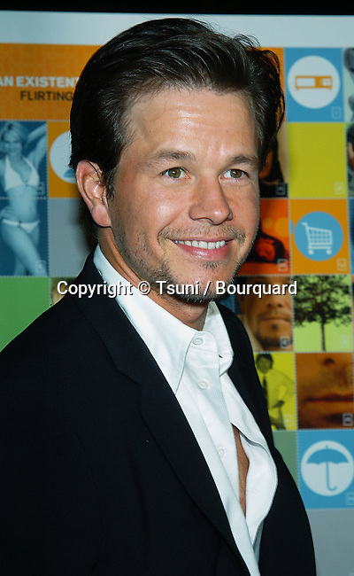 Mark Wahlberg arriving at the I Love Huckabees Premiere at the Grove Theatre in Los Angeles. January 20, 2004