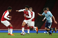 Xavier Amaechi of Arsenal in possession during Arsenal Youth vs Blackpool Youth, FA Youth Cup Football at the Emirates Stadium on 16th April 2018