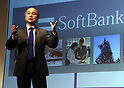 August 7, 2017, Tokyo, Japan - Japan's telecom giant Softbank president Masayoshi Son announces the company's first quarter financial result in Tokyo on Monday, August 7, 2017. Softbank said the company's operating income increased 50 percent of 160 trillion yen to 479 trillion yen from previous year.  (Photo by Yoshio Tsunoda/AFLO) LwX -ytd-