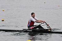 032 WallingfordRC MasB.1x Hartridge..Marlow Regatta Committee Thames Valley Trial Head. 1900m at Dorney Lake/Eton College Rowing Centre, Dorney, Buckinghamshire. Sunday 29 January 2012. Run over three divisions.