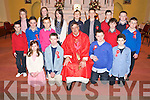 Pictured with Fr Michael Fleming who officiated at the confirmation ceremony in Beaufort on Thursday were Olivia Brosnan, James Doyle, Dylan Hyde, Ronan Curran, Donnacha Ireland, Paudie Coffey, Jason Coffey, Luke Sweeney, Timmy O'Connor, Liam O'Connor, Rachel O'Connor, Clodagh O'Connor, Rory Clifford, Ciaran Kennedy, Michael O'Shea and Thomas Garland, Cullina National School...........