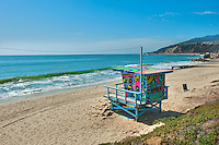 Topanga, Cove, Beach, CA, Lifeguard, Station #1, Socal Beach; Lifeguard Stations; CA; Geometric; shapes; Lifeguard Towers; Portraits of Hope; Summer of Color exhibit; The flower; beauty; core design; elements; design theme; environment; symbol of joy; universal; youth