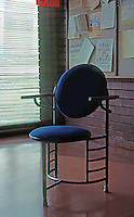 F.L. Wright: Chair, Johnson's Headquarters.  Photo '77.