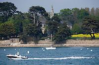 Europe/France/Bretagne/56/Morbihan/Golfe du Morbihan/Arradon: les bords du Golfe du Morbihan et la Chapelle Saint-Joseph XIX à Penboch