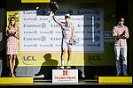 Benoit Cosnefroy (FRA) AG2R La Mondial retains the mountains Polka Dot Jersey at the end of Stage 4 of Tour de France 2020, running 160.5km from Sisteron to Orcieres-Merlette, France. 1st September 2020.<br /> Picture: ASO/Pauline Ballet | Cyclefile<br /> All photos usage must carry mandatory copyright credit (© Cyclefile | ASO/Pauline Ballet)