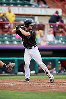 Erie SeaWolves catcher Jake Rogers (7) at bat during a game against the New Hampshire Fisher Cats on June 20, 2018 at UPMC Park in Erie, Pennsylvania.  New Hampshire defeated Erie 10-9.  (Mike Janes/Four Seam Images)