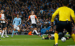 Leroy Sane of Manchester City sees his shot tipped round the post by Andriy Pyatov of Shaktar Donetsk during the Champions League Group F match at the Emirates Stadium, Manchester. Picture date: September 26th 2017. Picture credit should read: Andrew Yates/Sportimage