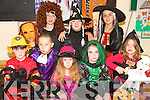 SPOOK TIME: Pupils from Scoil Ide National School Curranes who celebrated Halloween with a fundraising fancy dress for Temple Street Hospital on Friday last..Front row L/r. Charlie Conway, Dillon O'Connor, Helen O'Sullivan, Michelle O'Conor, Graine Cremins..Back row L/r. Darragh Begley, Maura Long and Lauren Nolan.   Copyright Kerry's Eye 2008