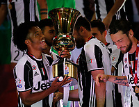 Juan Cuadrano  of Juventus  celebrate after win    Italy Cup Final  football match against SS Lazio at  the Olympic stadium in Rome, Italy   17  May 2017