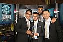 20/10/14<br /> <br /> Food and drink awards, Roundhouse, Derby.<br /> masala<br /> <br /> l/R abid rahman, dilawar hussain, hammad basharah, shaown khan,