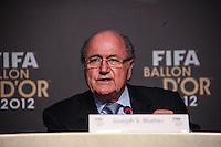 SAO PAULO, SP, 29 DE NOVEMBRO 2012 - BOLA DE OURO FIFA - Joseph Blatter presidente da FIFA durante anuncio da Bola de Ouro Fifa na manha desta quinta-feira no Parque Anhembi regiao norte da capital paulista. FOTO: VANESSA CARVALHO - BRAZIL PHOTO PRESS.