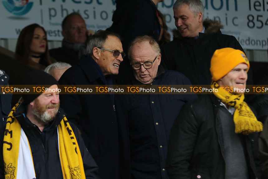 Former Sutton player, Dario Gradi, takes his seat in the Stands during Sutton United  vs Leeds United, Emirates FA Cup Football at the Borough Sports Ground on 29th January 2017