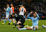 Leroy Sane of Manchester City reacts after his shot is saved by Andriy Pyatov of Shaktar Donetsk during the Champions League Group F match at the Emirates Stadium, Manchester. Picture date: September 26th 2017. Picture credit should read: Andrew Yates/Sportimage